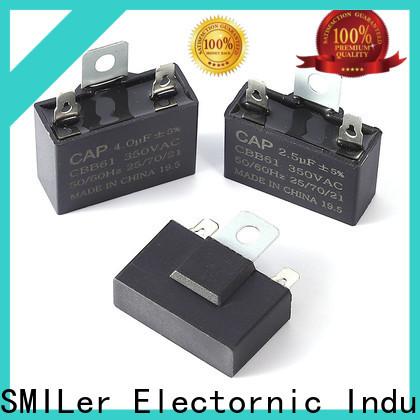 SMiLer wood motor start capacitors for sale company for fan