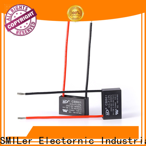 SMiLer ceiling cbb61 ceiling fan capacitor 2 wire factory for bike