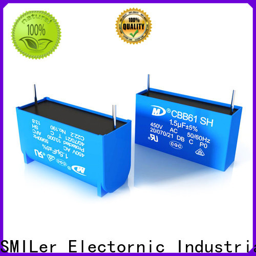SMiLer Top capacitor for exhaust fan motor suppliers for ac unit