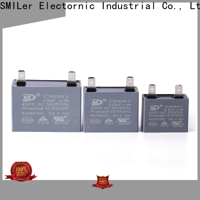 SMiLer run ac dual run capacitor factory for ceiling fan