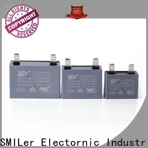 SMiLer speed wall fan capacitor manufacturers for ac unit