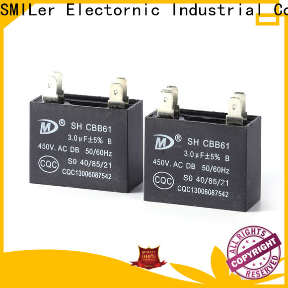 SMiLer fan air conditioner parts capacitor manufacturers for school