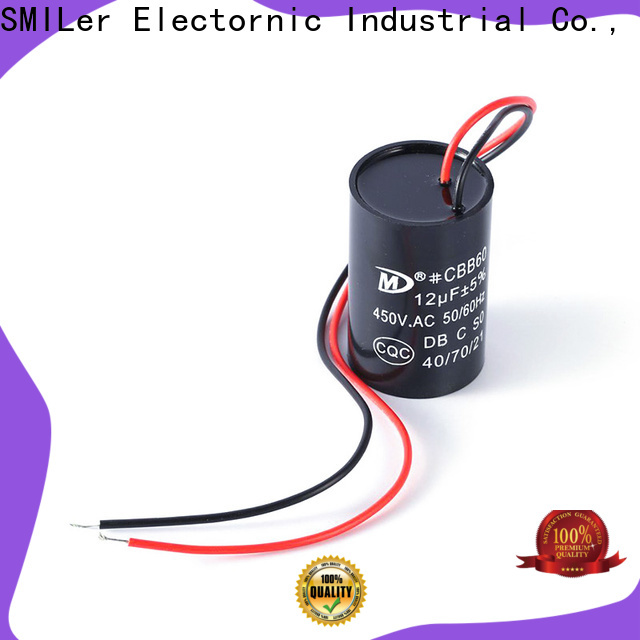 SMiLer polarity central air conditioner capacitor factory for air conditioner