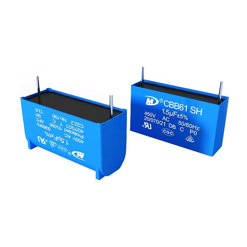 Circuit board capacitor air cleaner capacitor