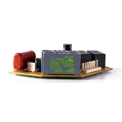 Circuit board capacitor board pin starting capacitor