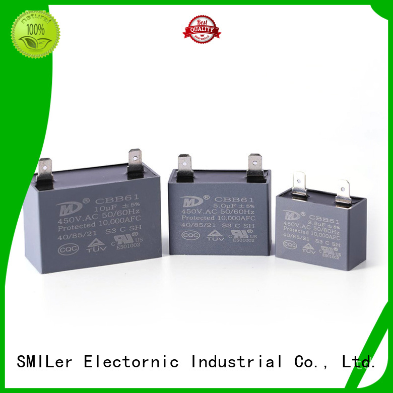 SMiLer rolling motor capacitors near me company for dryer machine