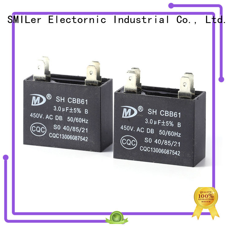 SMiLer compressor cbb65b air conditioner capacitor suppliers for carrier