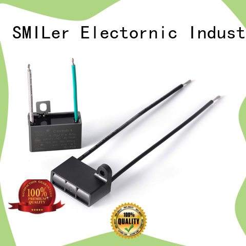 SMiLer capacitor small motor capacitors company for fan
