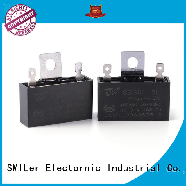 SMiLer capacitor carrier heat pump capacitor for business for ceiling fan