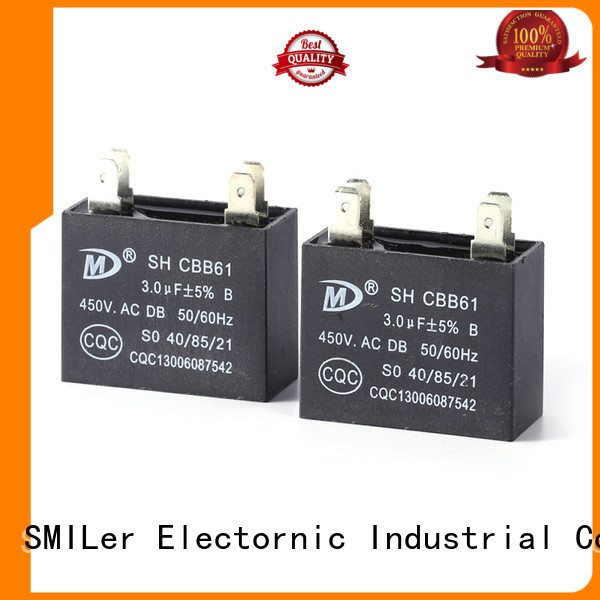 SMiLer High-quality home air conditioner capacitor company for school