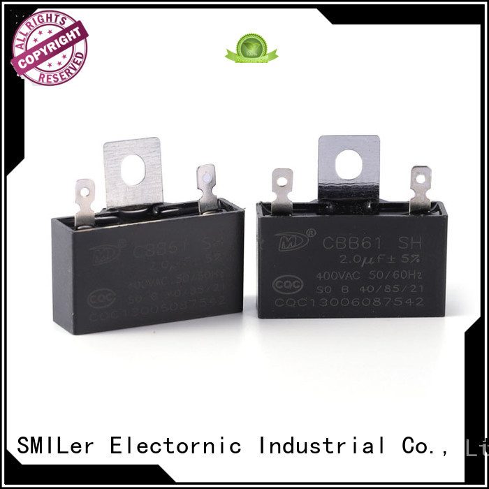 SMiLer Best polyester film capacitor company for ceiling fan