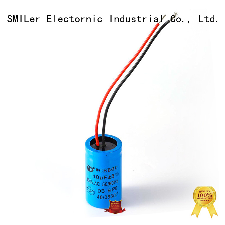 SMiLer tool compressor motor run capacitor suppliers for electric car