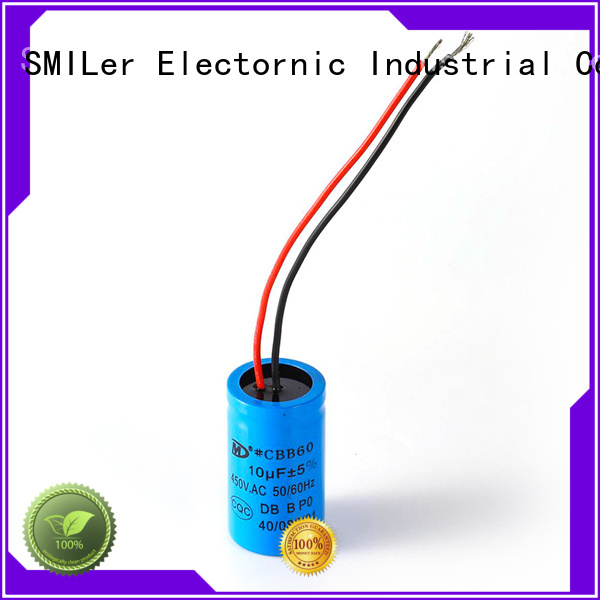 SMiLer Best 5 hp electric motor start capacitor factory for electric car