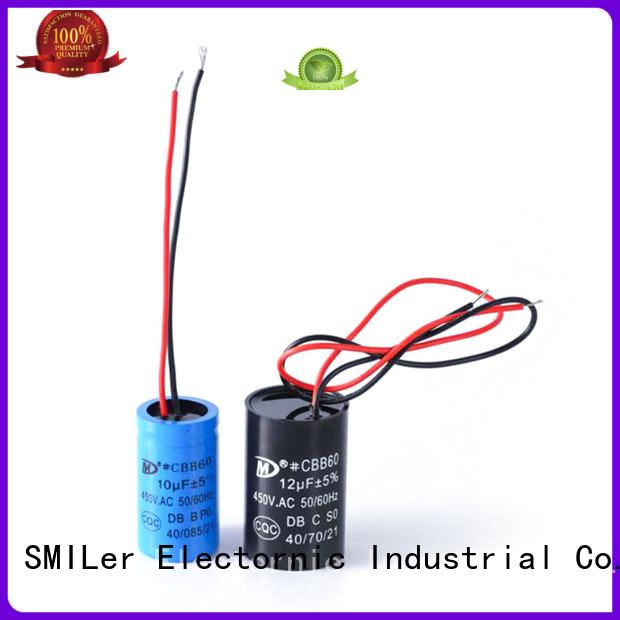 SMiLer start fan motor run capacitor suppliers for dryer machine