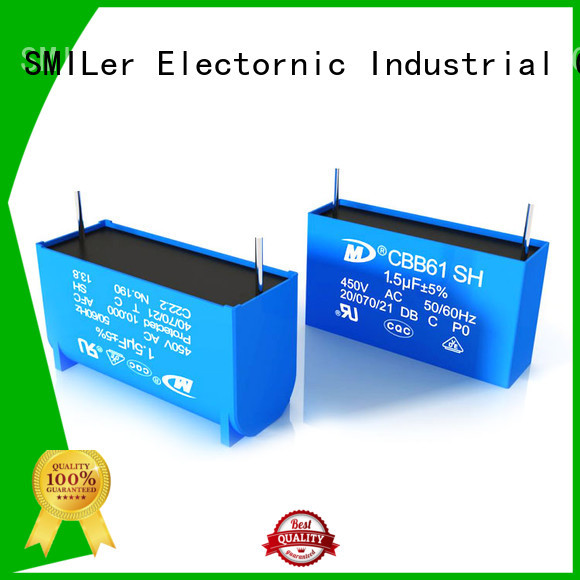 SMiLer Wholesale ac compressor capacitor price company for ac unit