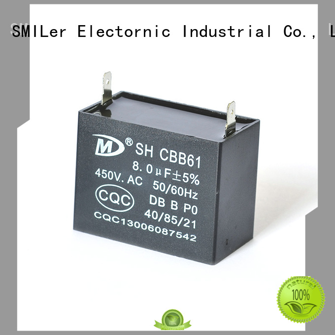 SMiLer wood 4 microfarad motor capacitor suppliers for furnace